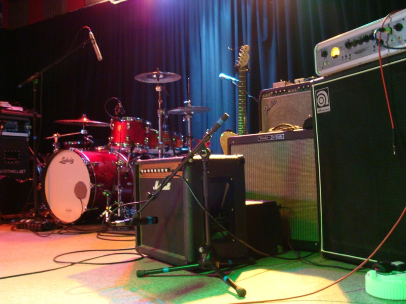 Amps on Stage